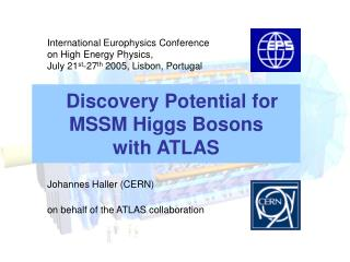Discovery Potential for  MSSM Higgs Bosons  with ATLAS