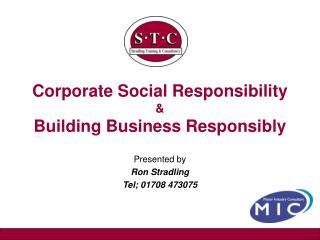 Corporate Social Responsibility & Building Business Responsibly