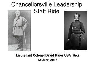 Chancellorsville Leadership Staff Ride