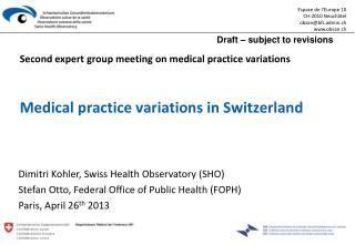 Medical practice variations in Switzerland
