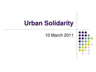 Urban Solidarity