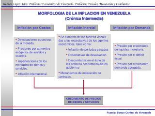 MORFOLOGIA DE LA INFLACION EN VENEZUELA (Crónica Intermedia)