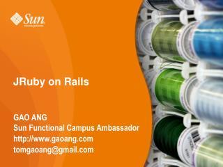 JRuby on Rails