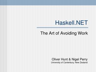 Haskell.NET