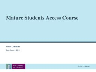 Mature Students Access Course