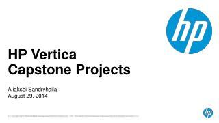 HP Vertica Capstone Projects