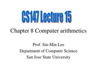 Chapter 8 Computer arithmetics