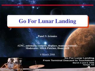 Go For Lunar Landing
