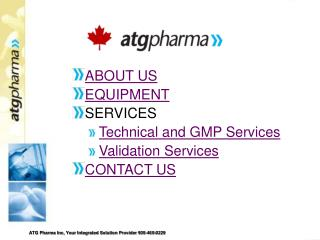 ABOUT US EQUIPMENT SERVICES Technical and GMP Services Validation Services CONTACT US