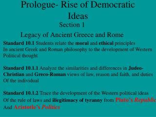 Prologue- Rise of Democratic Ideas