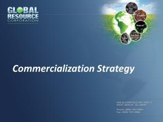 Commercialization Strategy