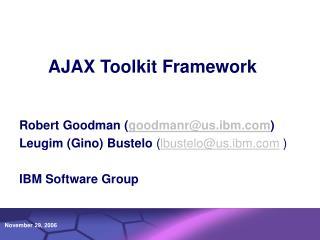 AJAX Toolkit Framework