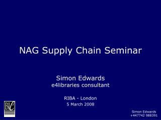 NAG Supply Chain Seminar