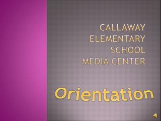 Callaway elementary school  media center