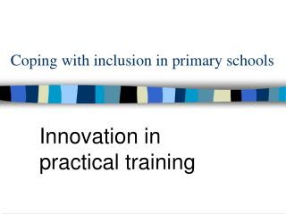 Coping with inclusion in primary schools