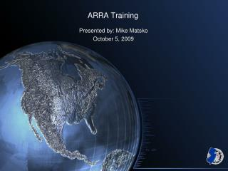 ARRA Training