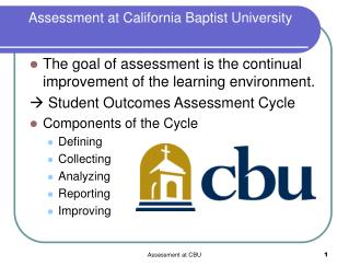 Assessment at California Baptist University