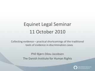 Equinet Legal Seminar  11 October 2010