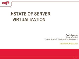 State of Server Virtualization