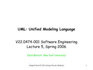 UML: Unified Modeling Language