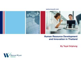 Human Resource Development and Innovation in Thailand