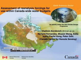 Assessment of reanalysis forcings for use within Canada-wide water budgets