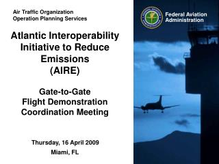 Air Traffic Organization Operation Planning Services