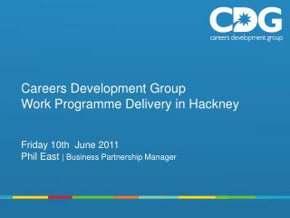 Careers Development Group Work Programme Delivery in Hackney