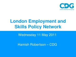 London Employment and Skills Policy Network