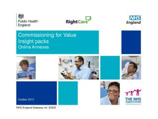 Commissioning for Value  Insight  packs Online Annexes