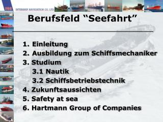 """Berufsfeld """"Seefahrt"""""""