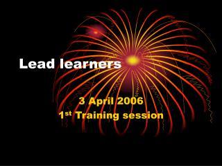 Lead learners