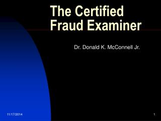 The Certified Fraud Examiner
