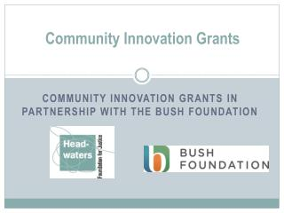 Community Innovation Grants