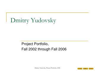 Dmitry Yudovsky