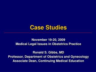 Medical case study presentation