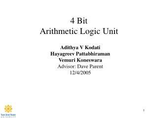 4 Bit  Arithmetic Logic Unit
