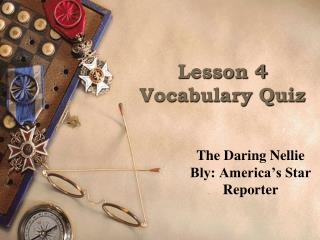 Lesson 4 Vocabulary Quiz