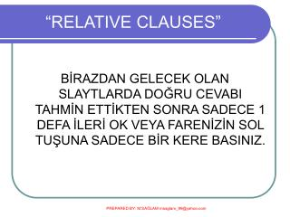 �RELATIVE CLAUSES�