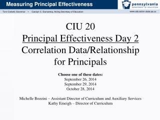 Agenda for Correlation Data/Relationship