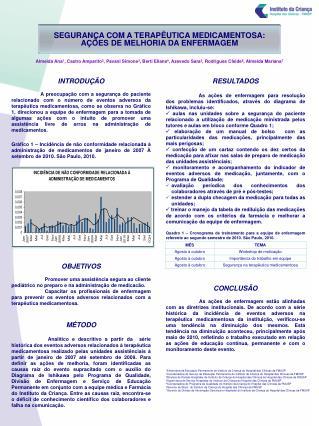SEGURANÇA COM A TERAPÊUTICA MEDICAMENTOSA:  AÇÕES DE MELHORIA DA ENFERMAGEM