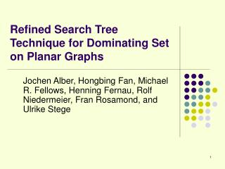 Refined Search Tree Technique for Dominating Set on Planar Graphs