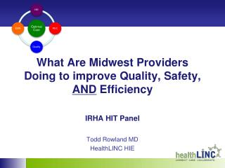 What Are Midwest Providers Doing to improve Quality, Safety,  AND  Efficiency IRHA HIT Panel