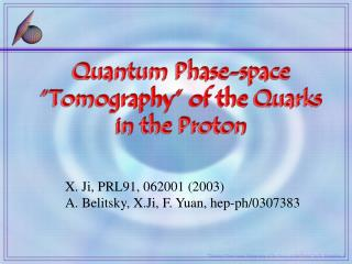 Quantum Phase-space   Tomography  of the Quarks  in the Proton
