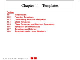 Chapter 11 - Templates