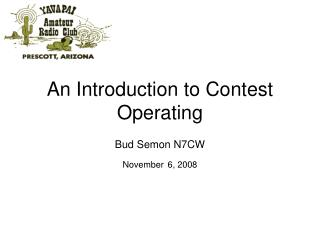 An Introduction to Contest Operating