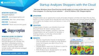 WINDOWS AZURE CSV :  Shopperception WEB SITE :   shopperception