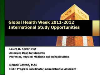 Global Health Week 2011-2012 International Study Opportunities