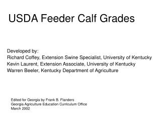 USDA Feeder Calf Grades