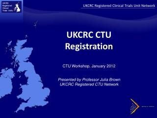 UKCRC Registered Clinical Trials Unit Network
